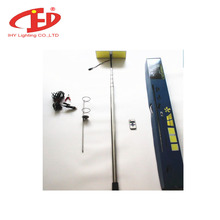 Hot sales 2 Lights Boards 12V LED 5M Telescopic Rod Lamp LED Fishing Camping Light for Road Outdoor Garden