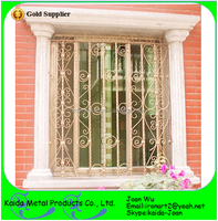 Security Wrought Iron/Steel Window Grilles Inserts Design For Home