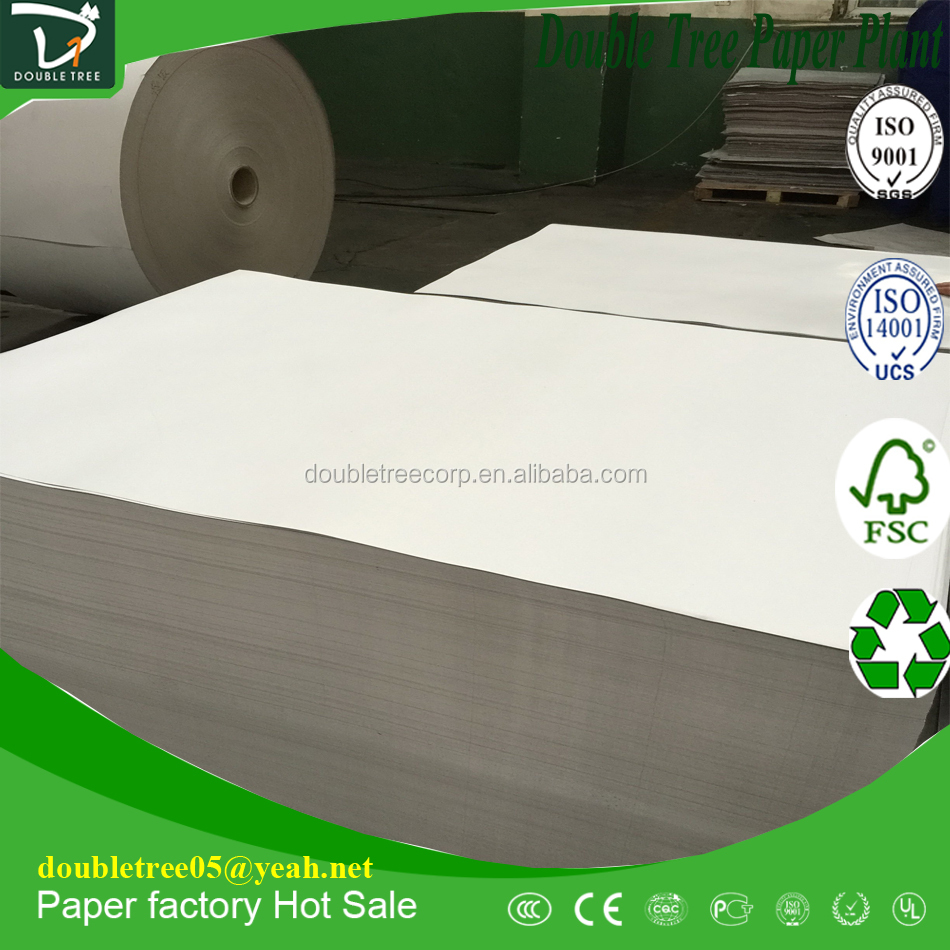 Packing Box Paper Duplex Board 250-450GSM White Back/Grey Back Paper Price