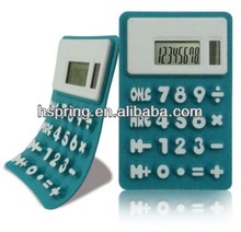 Cheap mini solar powered rubber calculator