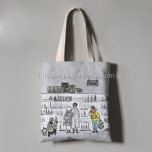 Customized Colorful Eco Friendly Tote Bag Drawstring Reusable Canvas Shopping Bag