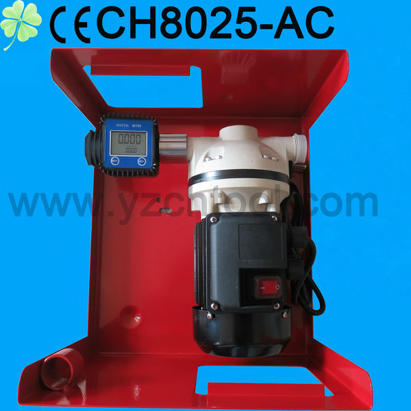 YZCHTOOL-Urea Chemical AC 220V Small Electric Adblue Pump with flow meter /diaphragm pump with adblue meter CH8018