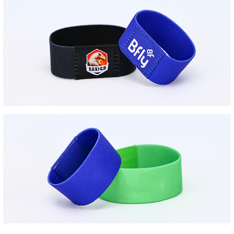 13.56MHZ Custom Classic 1K S50  Festival RFID Stretch/ Elastic Wristband For Events