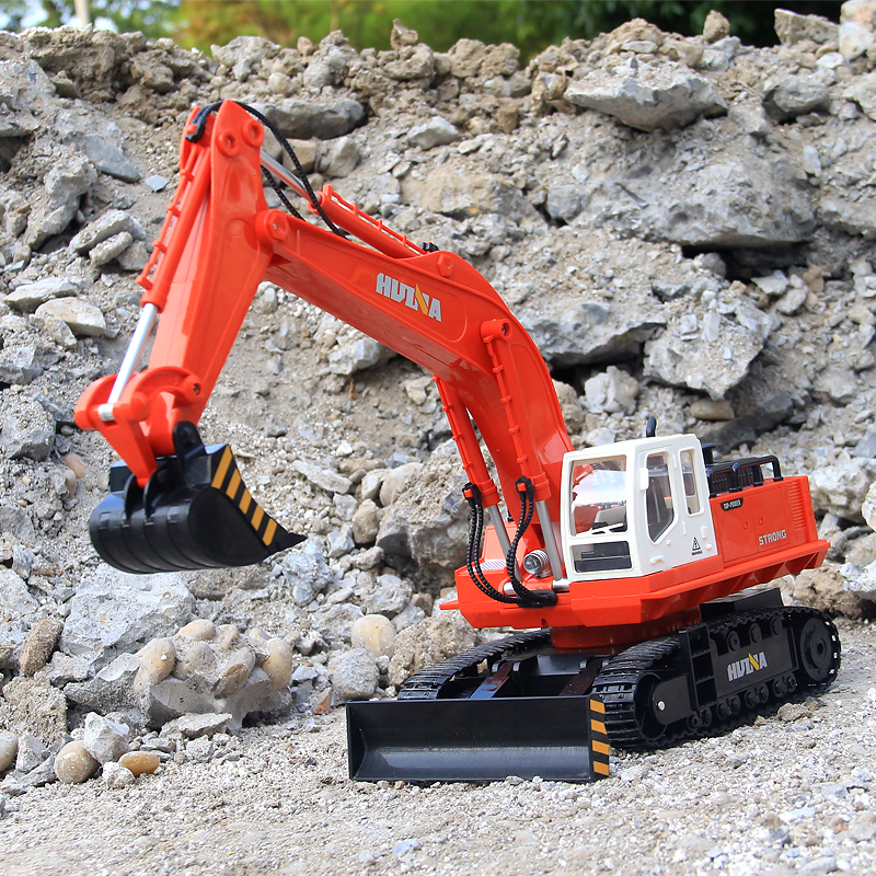 RC Car 2.4G 1:12 RC Excavator 11 Channels Metal Charging Model Toys Grabbing Machine Auto Demonstration Cars