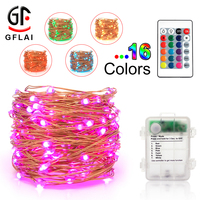 Promotional Gift Decorative Indoor 24 Modes 16 Multicolor Ultra Thin Fairy String Lights