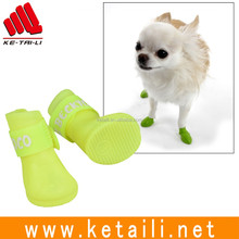 Made in China waterproof silicone rubber puppy shoes dog rain boots Factory