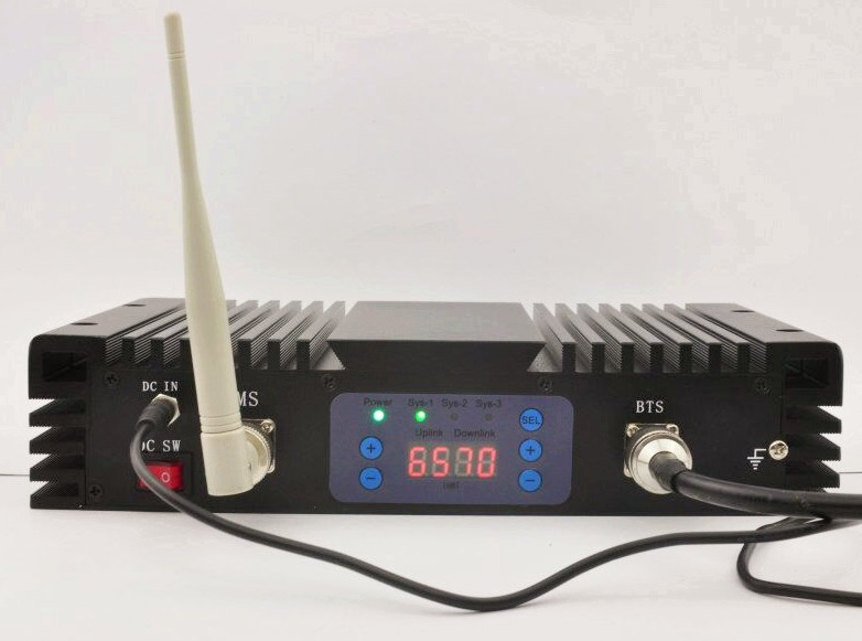 3g 4g lte repeater , 900+2100+2600 4g booster,cell phone signal amplifier with AGC MGC