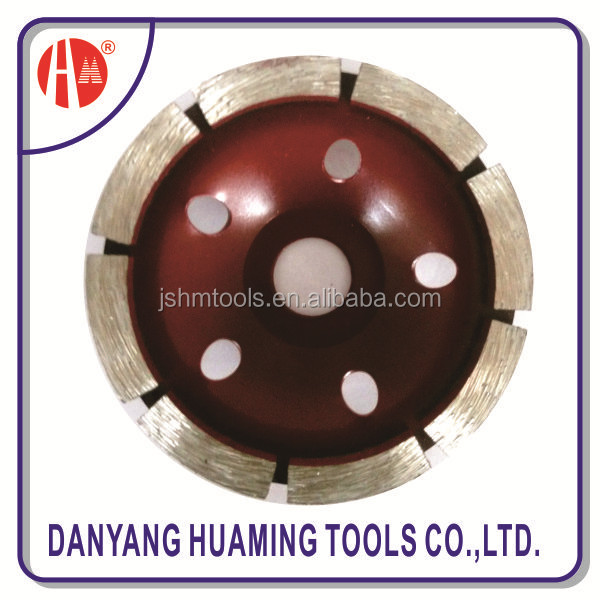 arranged segments single row cup grinding wheel for fast grinding concrete surface and floor