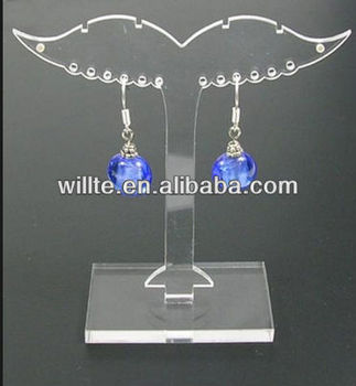 hot sale tree-shaped mini acrylic earring display stand,mini exquisite pespex jewlery display