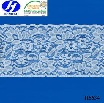 Hongtai new design 10 cm indian saree border lace elastic stretch lace trim material for dress