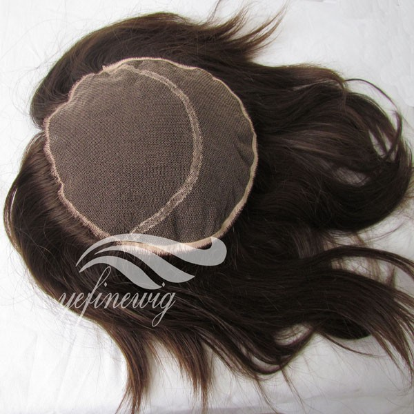 Hot selling curl topper wig clip in lovely hair human hair toupee with bang