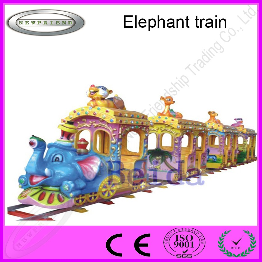 Elephant electric ride on train toy amusing railway train games