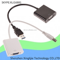 USB 3.0 to VGA External Video Card Multi Monitor converter Adapter cable for Windows10