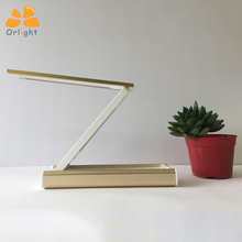 Aluminium Alloy Body Eye Protection Foldable Powerbank Table Light Hotel Led Folding Desk Lamp For Sale