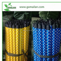Wood mop and broom holder with plastic coated