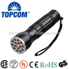 aluminum multi-purpose 5 led uv 10 led white light 1 led laser flashlight
