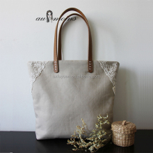 organic cotton lace tote bag