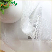 Factory direct sales 100% poly white sheer discount drapery fabrics