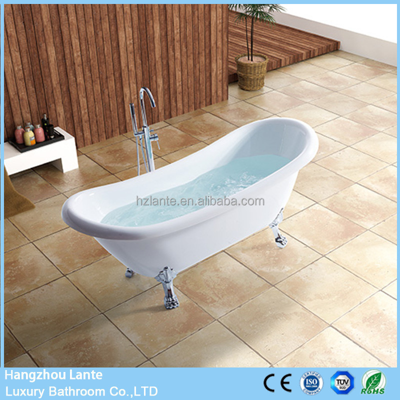 Antique Fiberglass Acrylic Free Standing Claw Foot Bath Tubs from Poland