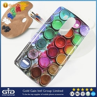 [GGIT] Water Printing Leather TPU Case Cover for LG G3 Mini Shining Material
