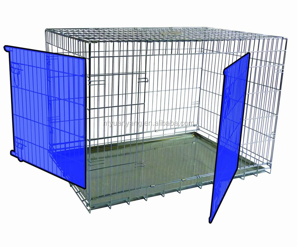 sliver safety fold wire steel travel flat carrier pet cage dog crates