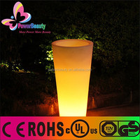 cheap home decorative plastic PE solar led lighting garden flower pot