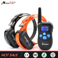 Waterproof 330 Yard Electric Rechargeable Remote Pet SHOCK DOG SLAVE TRAINING COLLAR for 2 dogs