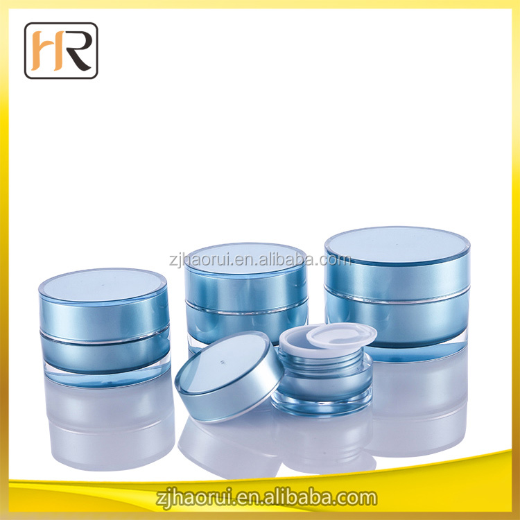 shangyu haorui 50ml clear cosmetic jars and bottle ,50 ml acrylic cream jar 50g cosmetic empty containers 50ml plastic jar