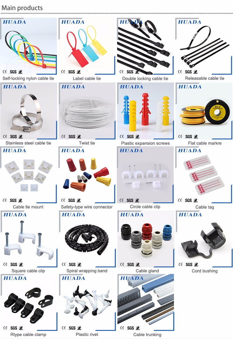 nylon saddle type cable tie mounts