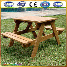Modern Waterproof WPC Wooden Long Bench Outdoor Garden Chair