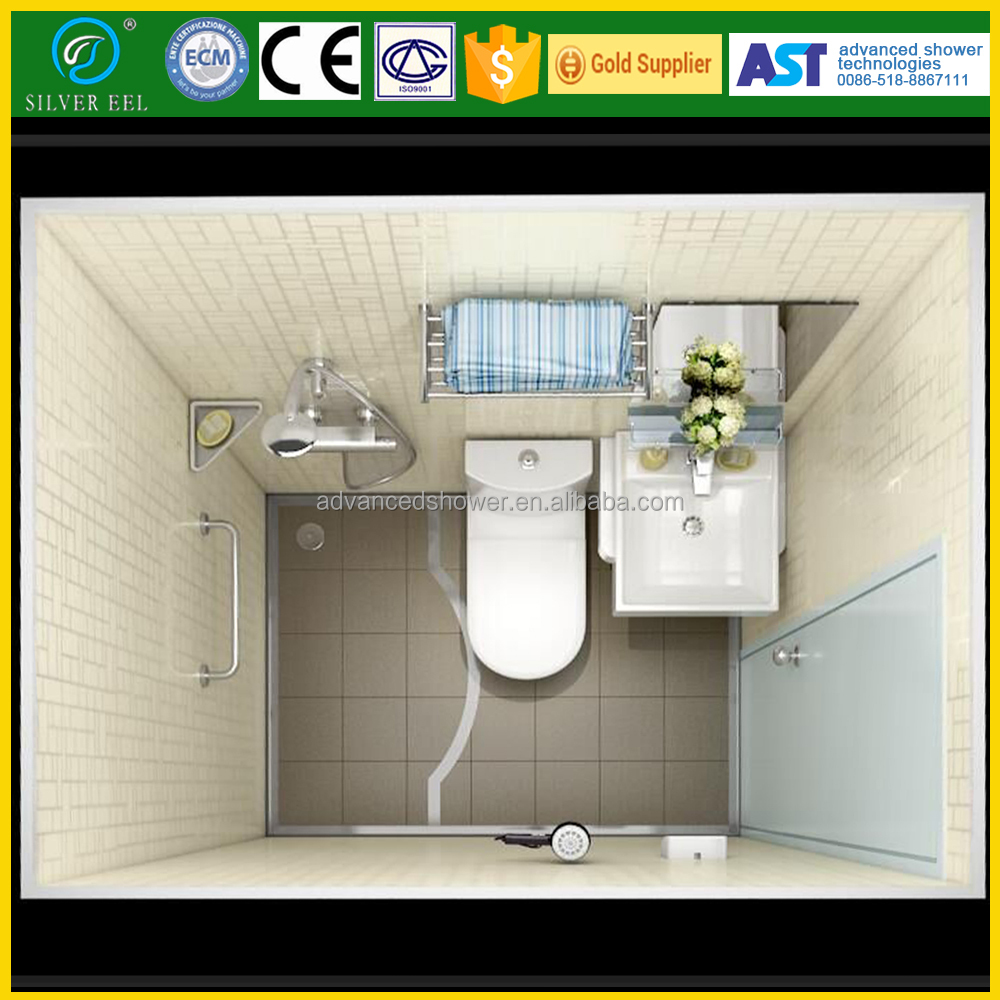 All in one complete container /tent /trailer houses prefab modular bathroom