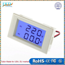 LCD Blue Backlight Volt Amp Dual display Meter AC100-300V/50A 2in1 Voltmeter Ammeter + Current Transformers