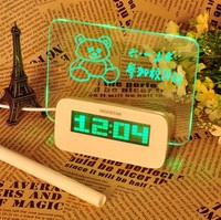 Alarm clock new design variou style for kids modern home decor table clock fashion memo board
