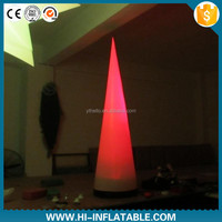Best quality table decoration lighting inflatable cone No. 001 with color changeful led light for party,event decoration