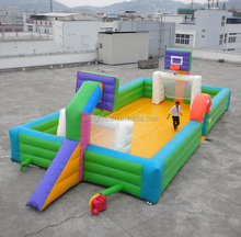 2015 hot inflatable soap soccer field, interactive sports game, big green football pitch inflatables