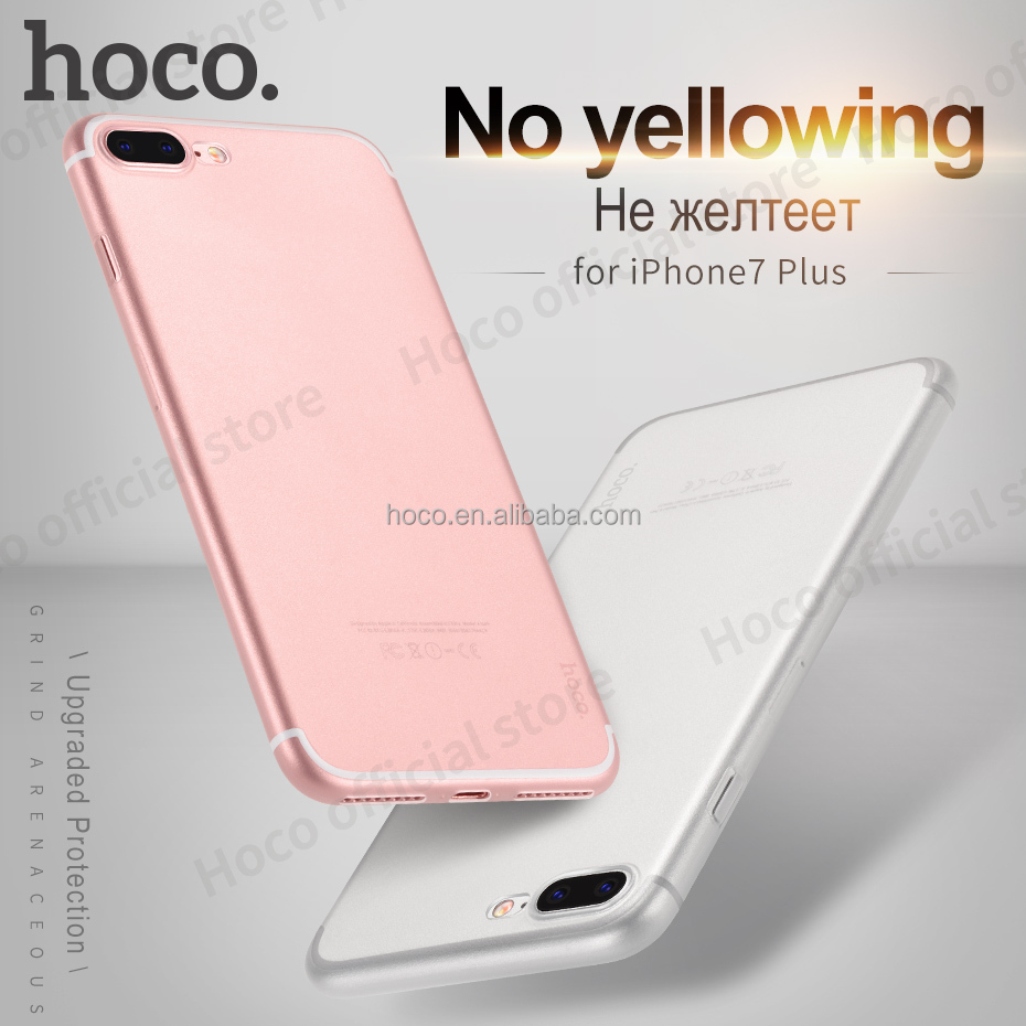 HOCO Ultra thin series PP cover for I7 Plus high transprent 0.4mm matte camera protect case slim smartphone housing clear