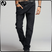 Latest designers men trousers pants dark blue denim washing just black jeans
