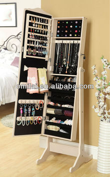 jewelry armoire cabinet with drawer