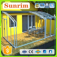 High Quality European style polycarbonate roof screen rooms camping