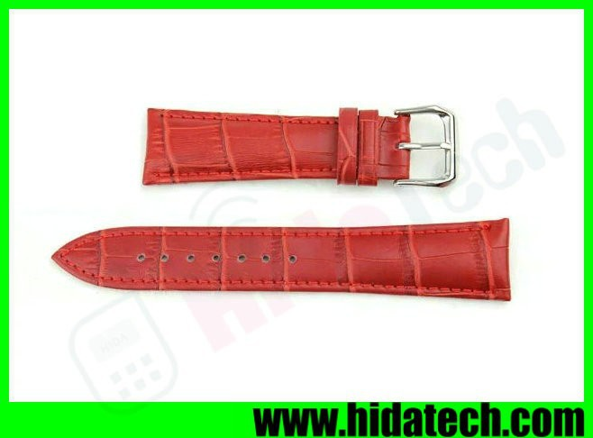 Top grade crocodile watch strap leather wrist watch bands for apple watch