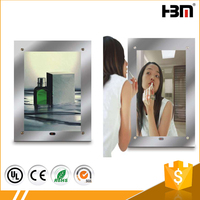 2017 Bathroom LED Sensor Magic Mirror Light box for advertisement