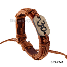 Fengrise Woven Leather Boy and Girl Friendship Bracelets