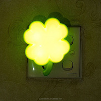 Professional manufacturer four leaf clover shape sensor small portable led light kids lucky night lamps