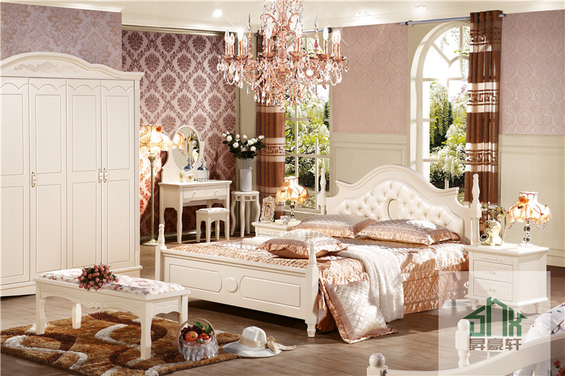 Korea Style Bedroom Set Furniture fancy solid wood kids bedroom furniture set made in china