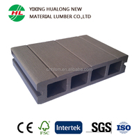 WPC Outdoor Floor Wood Plastic Composite Hollow Decking Decorative Board with High Quality
