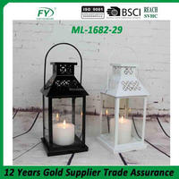 Modern techniques mini table and outdoor garden and camping hanging metal candle lantern ML-1682-29