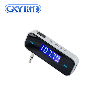 GXYKIT Factory supply wireless car fm transmitter with handsfree talk function for mobile phone