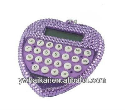 wholesale purple heart shaped scientific calculator