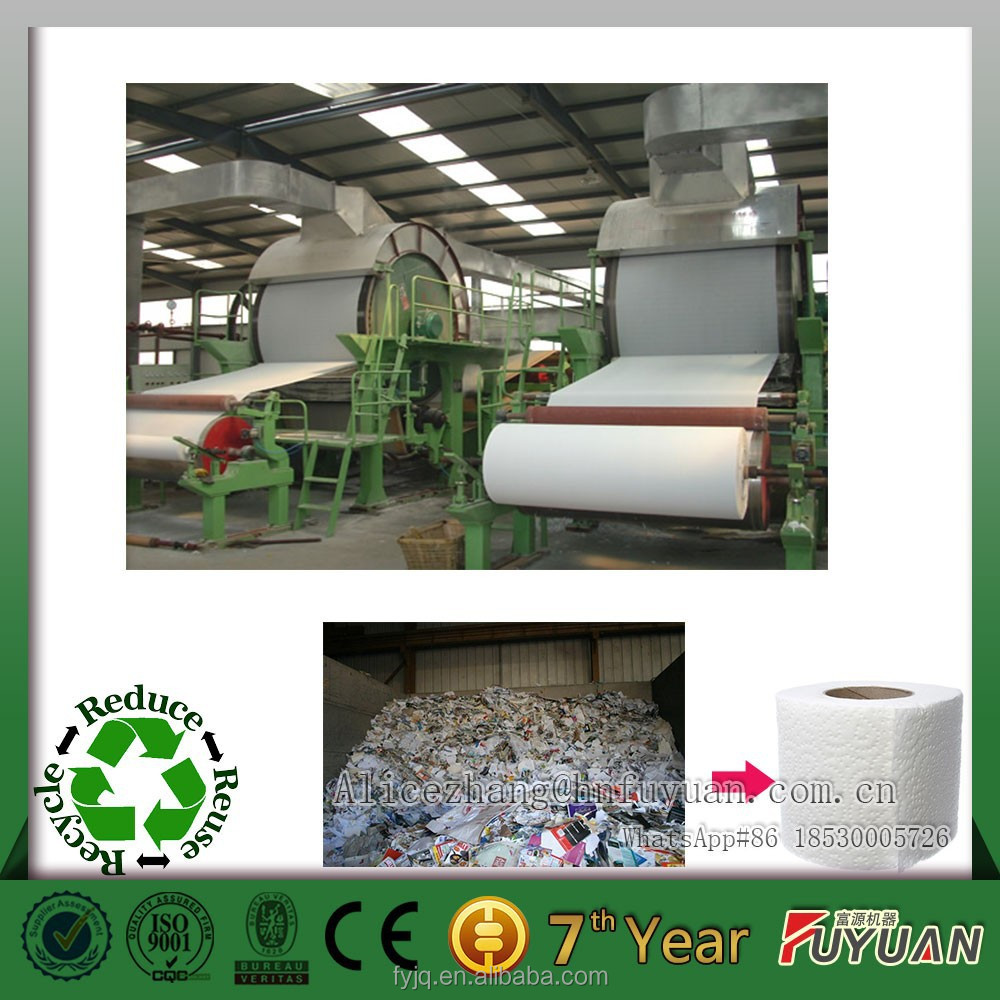 new condition alibaba supplier waste recycling paper making machine, waste paper making mill, recovered fiber for paper making
