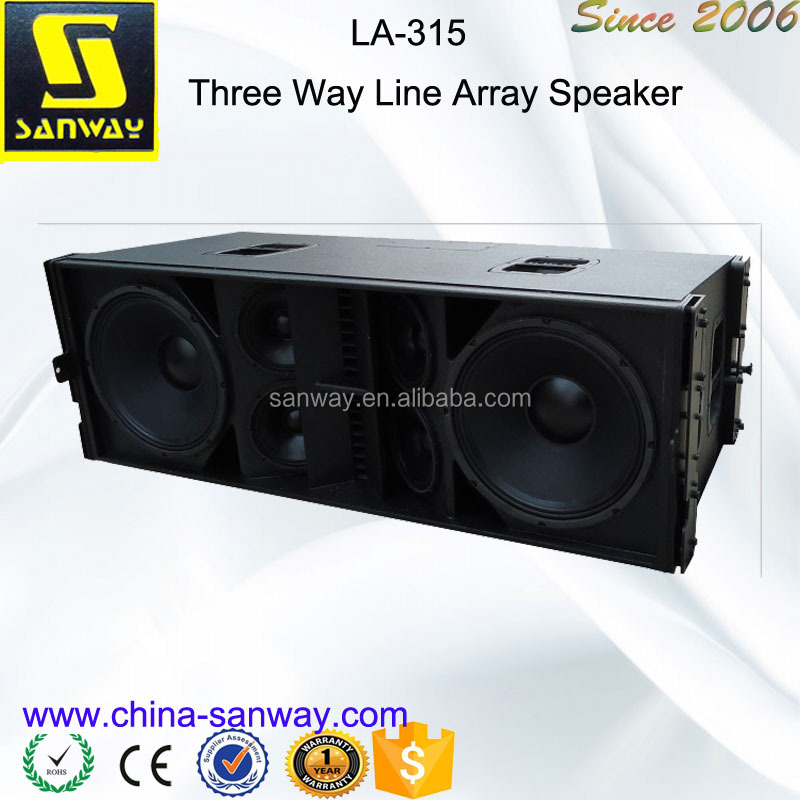 "LA-315 Dual 15"" Line Array Speakers And Subwoofers"